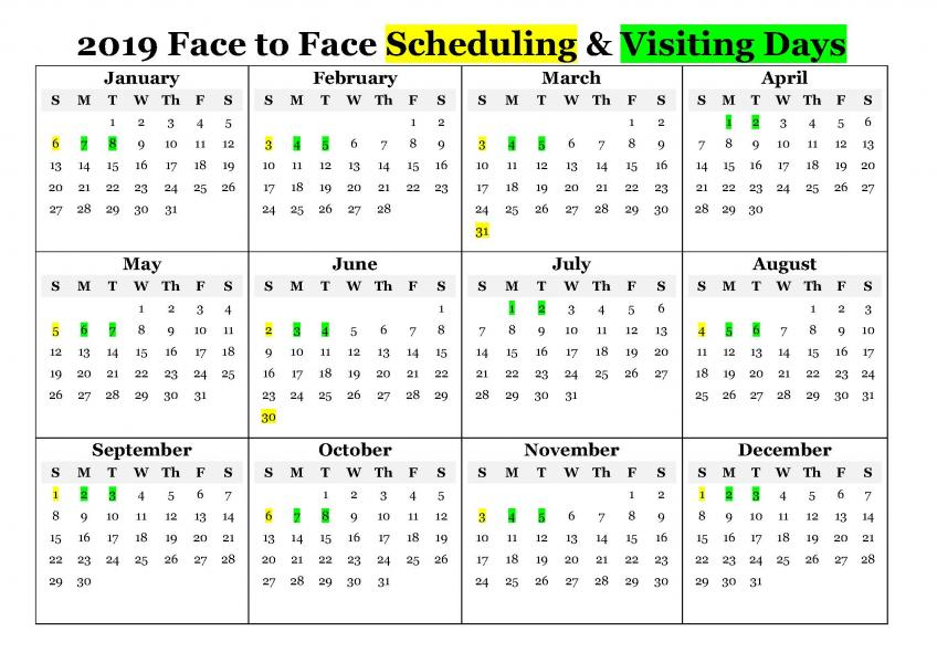 Online Scheduling for Video Visitation/Scheduling for Face