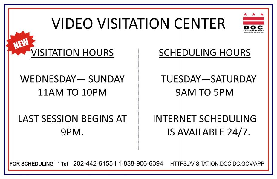 Video visitation hours